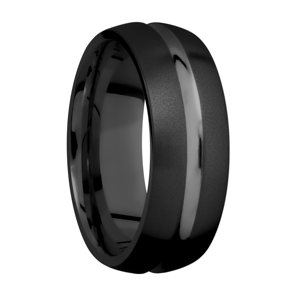 Lashbrook Z8DC Zirconium Wedding Ring or Band Alternative View 1
