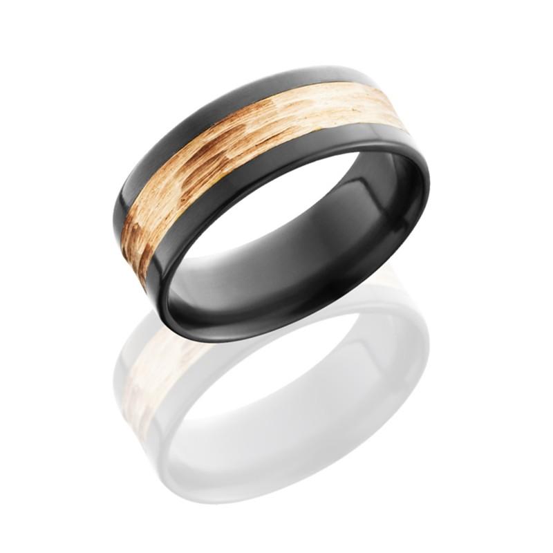 Lashbrook Z8F14 14KR TBH POLISH Zirconium Wedding Ring Or Band