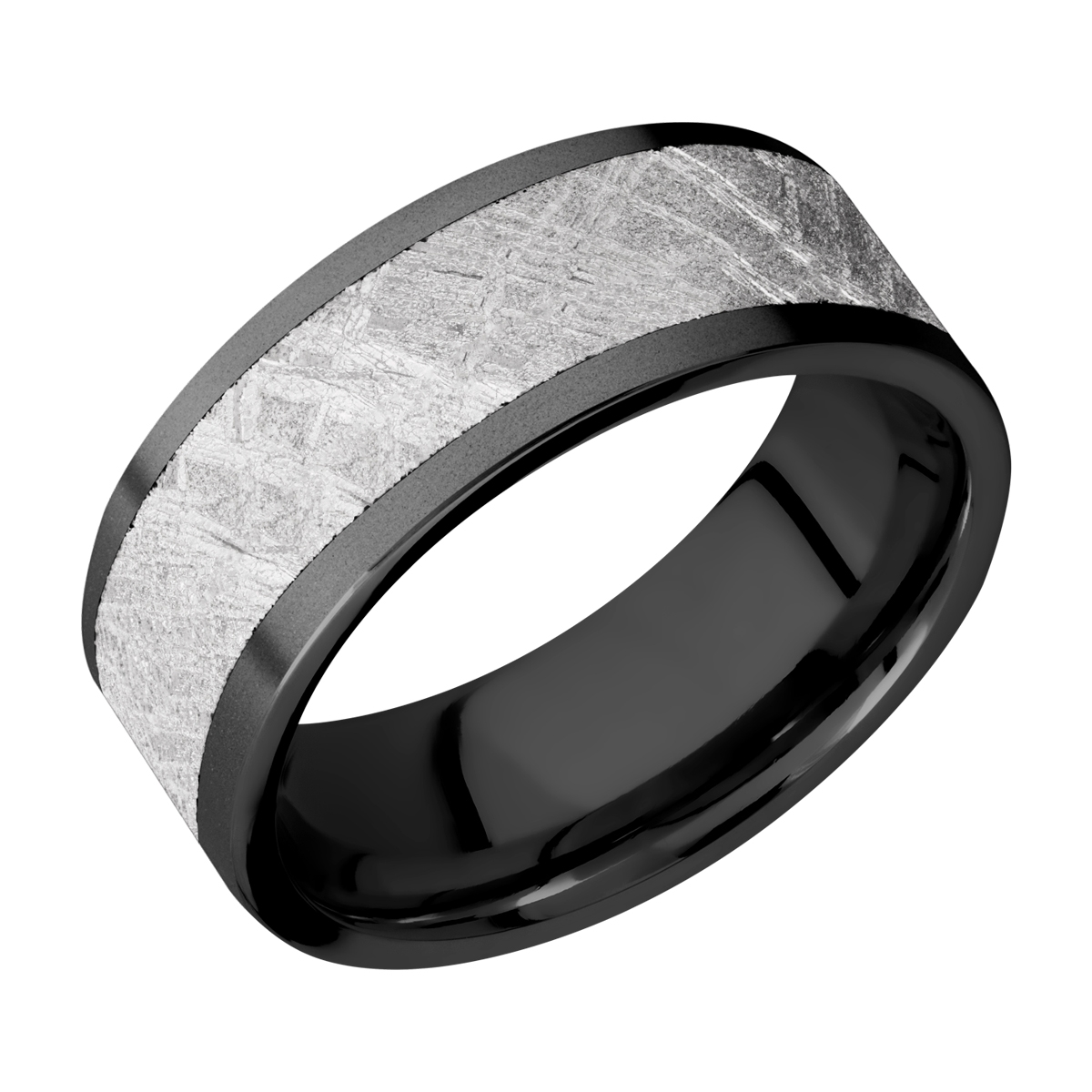 Lashbrook Z8F16/METEORITE Zirconium Wedding Ring or Band