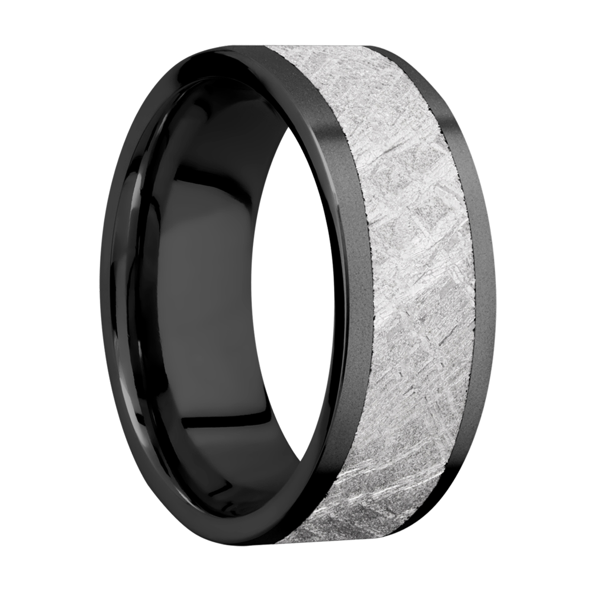 Lashbrook Z8F16/METEORITE Zirconium Wedding Ring or Band Alternative View 1