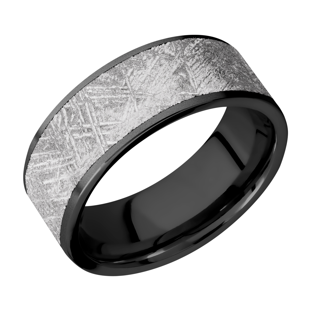Lashbrook Z8F17/METEORITE Zirconium Wedding Ring or Band