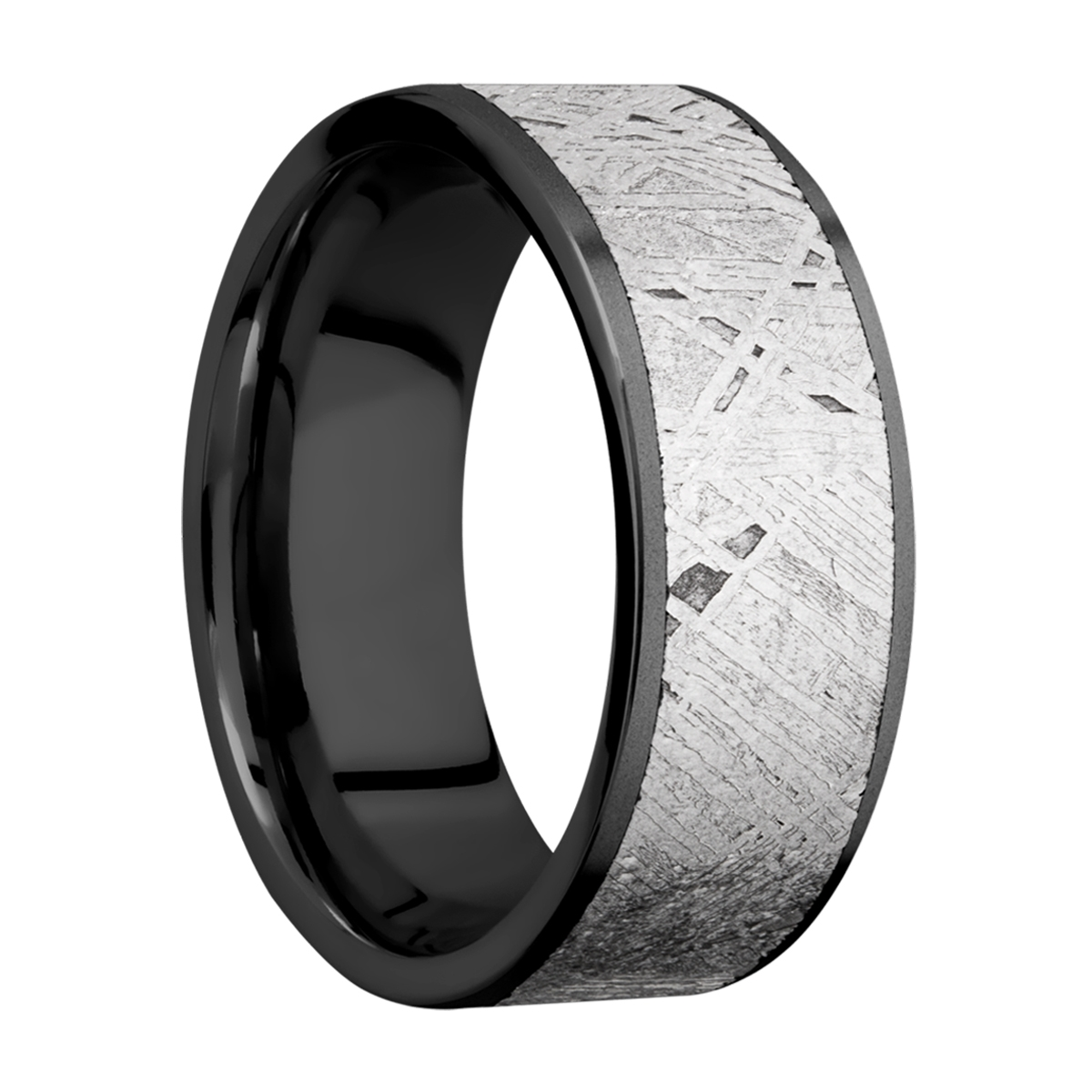 Lashbrook Z8F17/METEORITE Zirconium Wedding Ring or Band Alternative View 1
