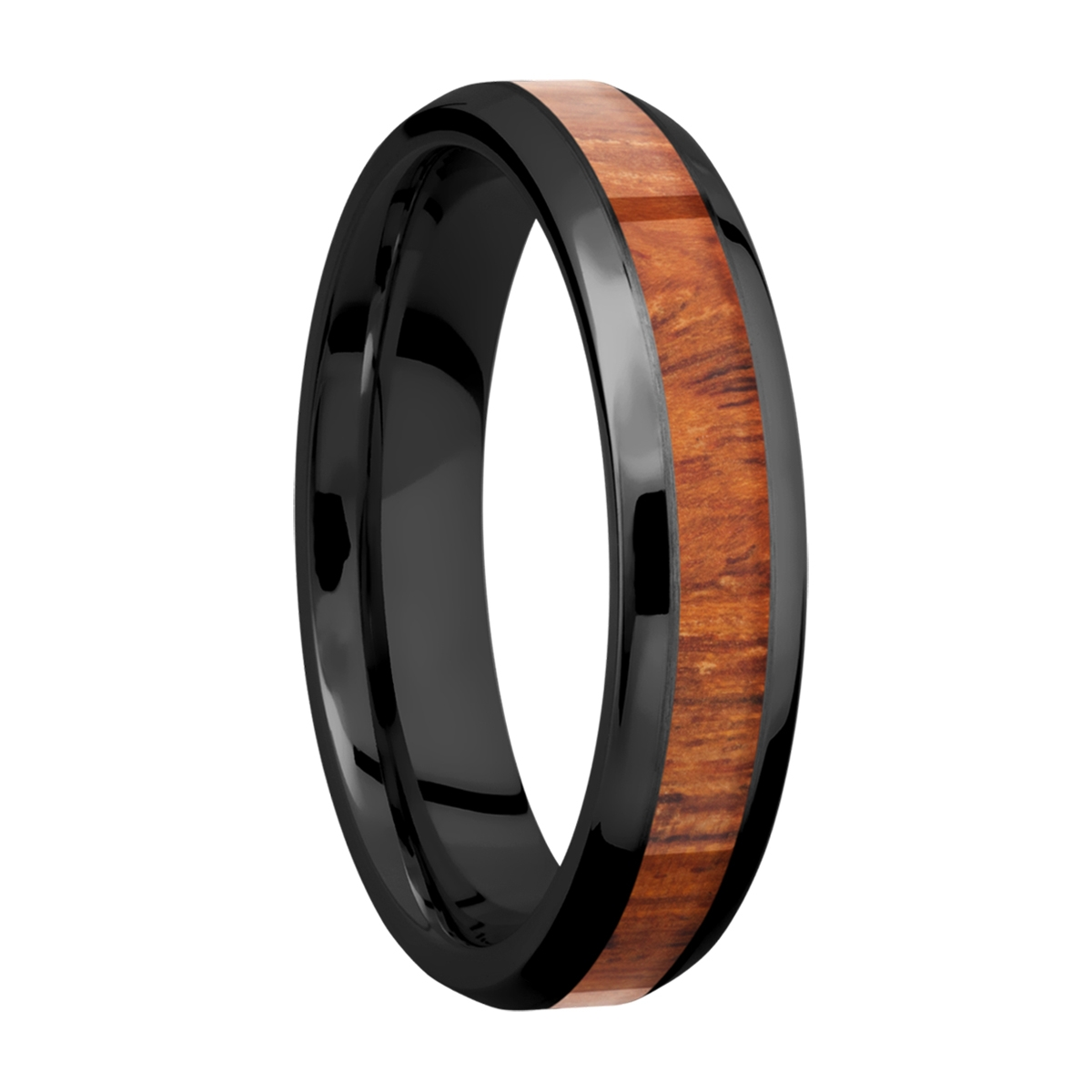 Lashbrook Z5B13(NS)/HARDWOOD Zirconium Wedding Ring or Band Alternative View 1