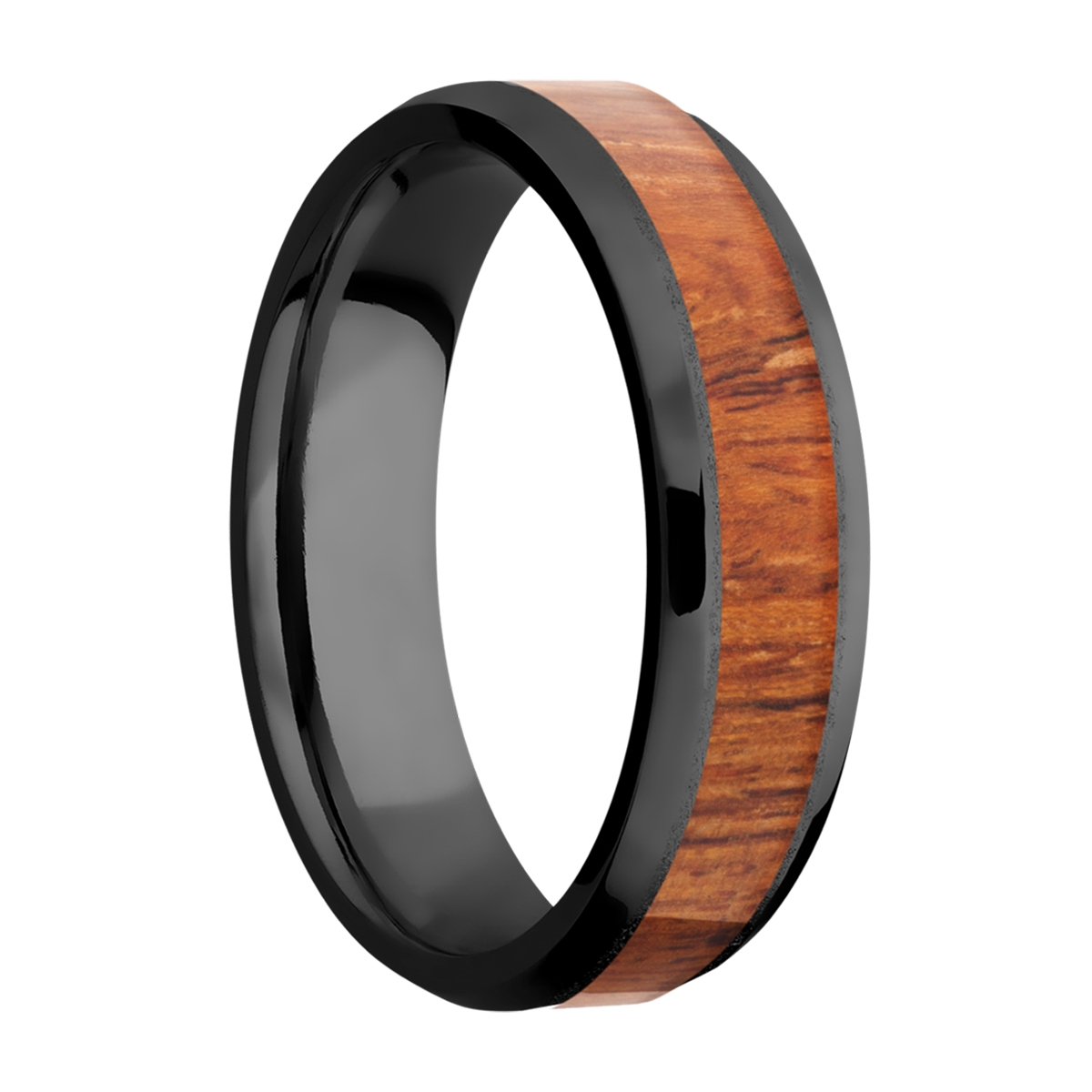 Lashbrook Z6B14(NS)/HARDWOOD Zirconium Wedding Ring or Band Alternative View 1