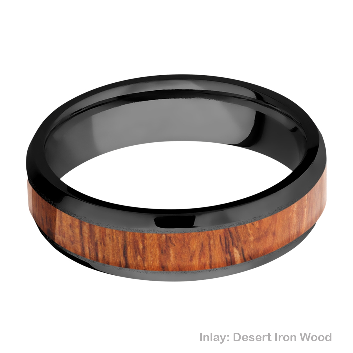 Lashbrook Z6B14(NS)/HARDWOOD Zirconium Wedding Ring or Band Alternative View 2