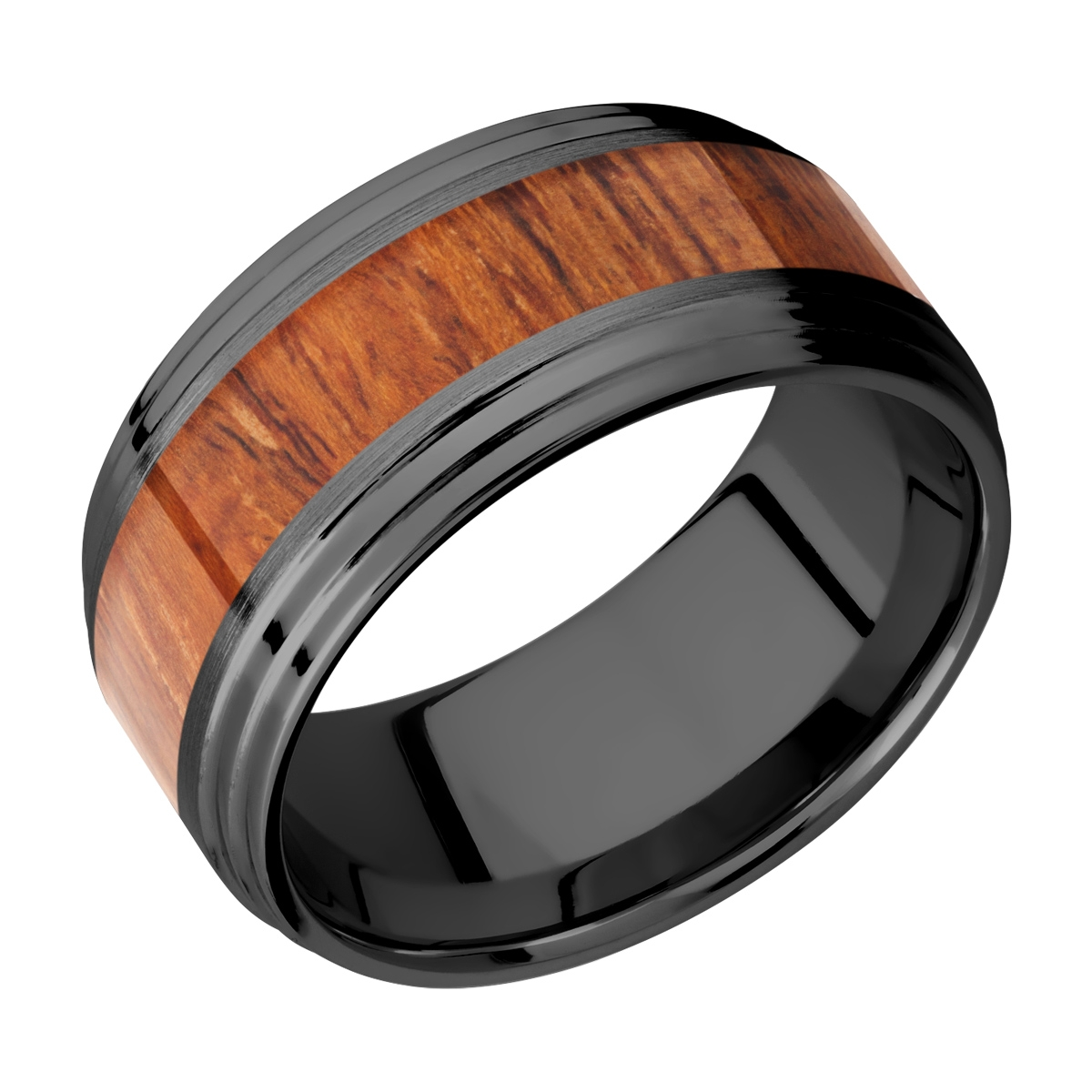 Lashbrook Z10F2S15/HARDWOOD Zirconium Wedding Ring or Band