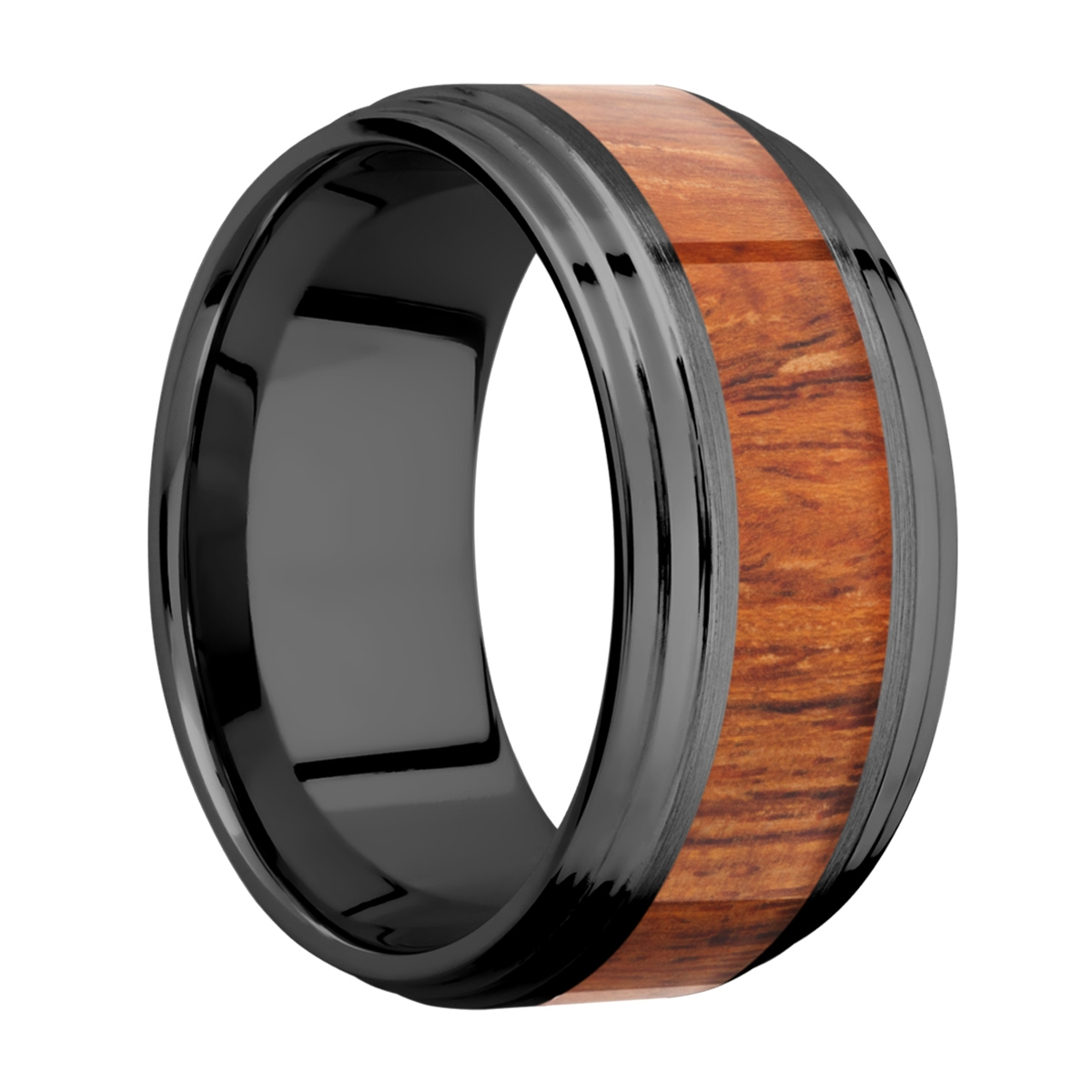 Lashbrook Z10F2S15/HARDWOOD Zirconium Wedding Ring or Band Alternative View 1