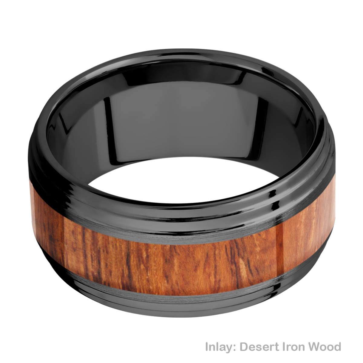 Lashbrook Z10F2S15/HARDWOOD Zirconium Wedding Ring or Band Alternative View 2