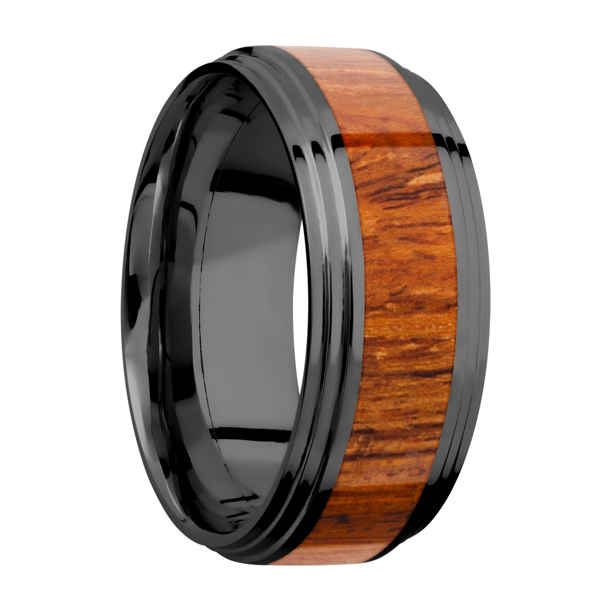 Lashbrook Z9F2S14/HARDWOOD Zirconium Wedding Ring or Band Alternative View 1