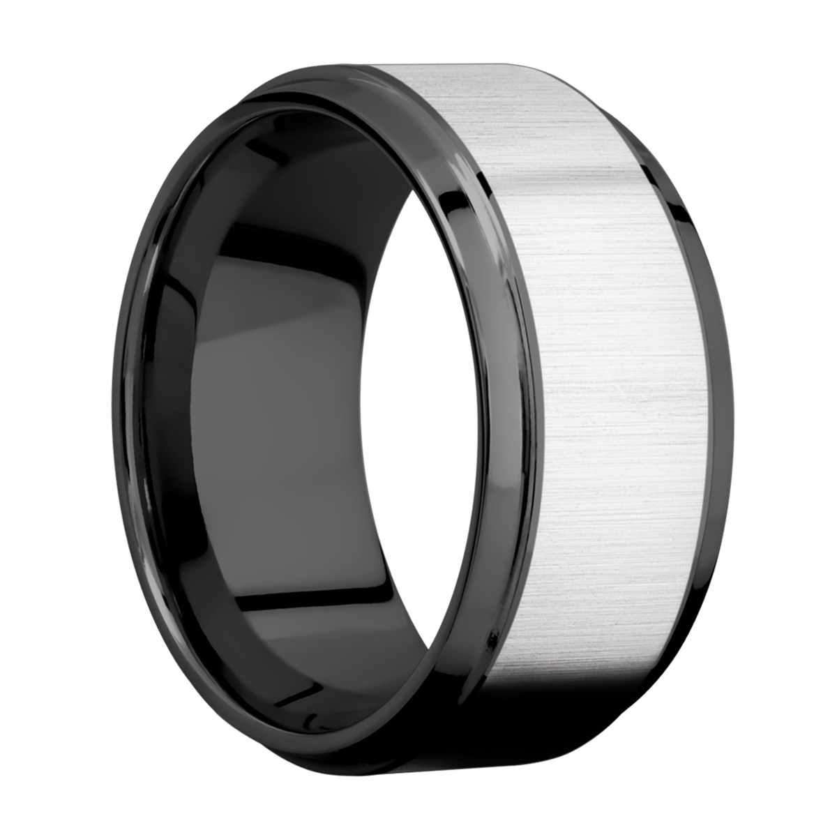 Lashbrook ZPF10B17(S)/COBALT Zirconium Wedding Ring or Band Alternative View 1