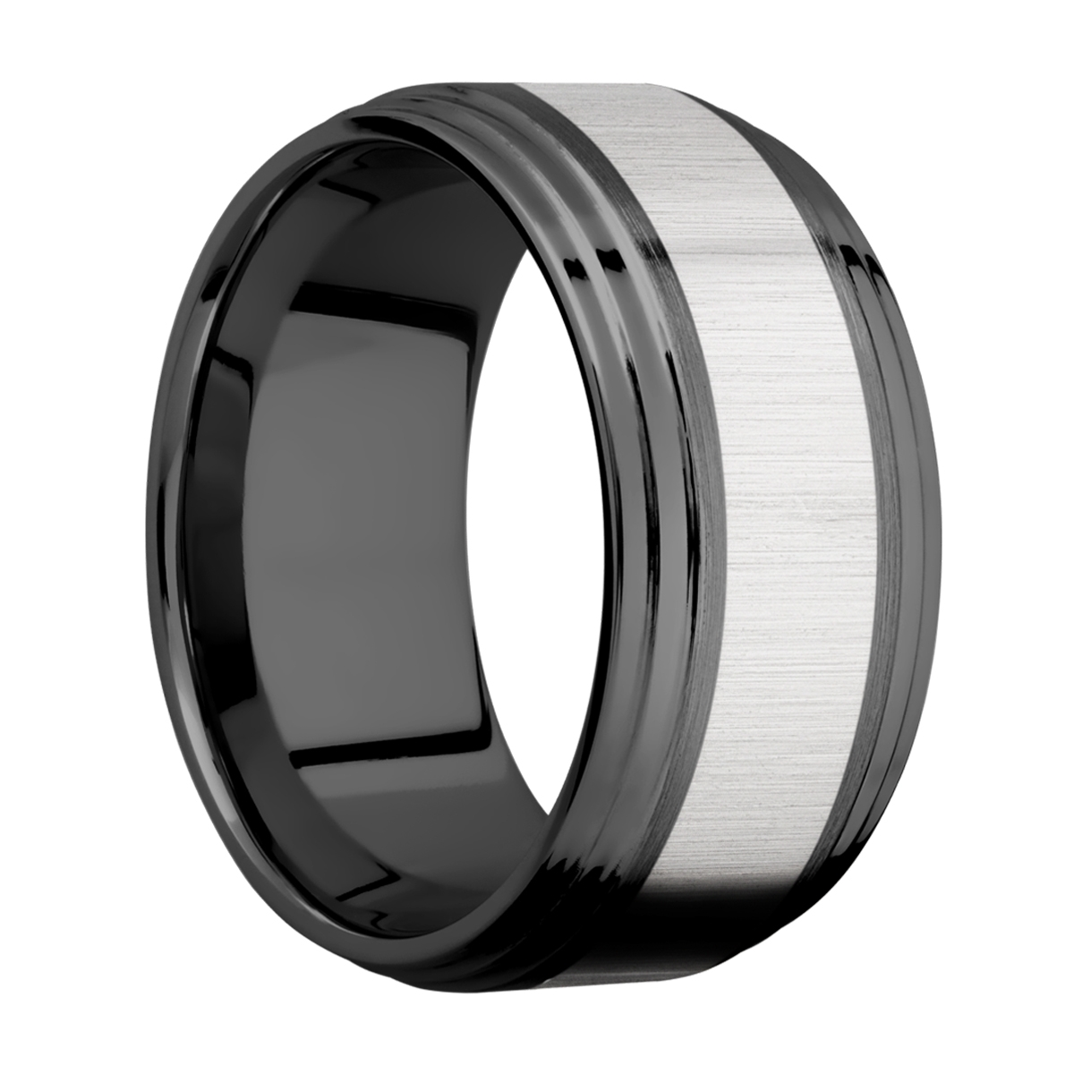 Lashbrook ZPF10F2S15/TITANIUM Zirconium Wedding Ring or Band Alternative View 1