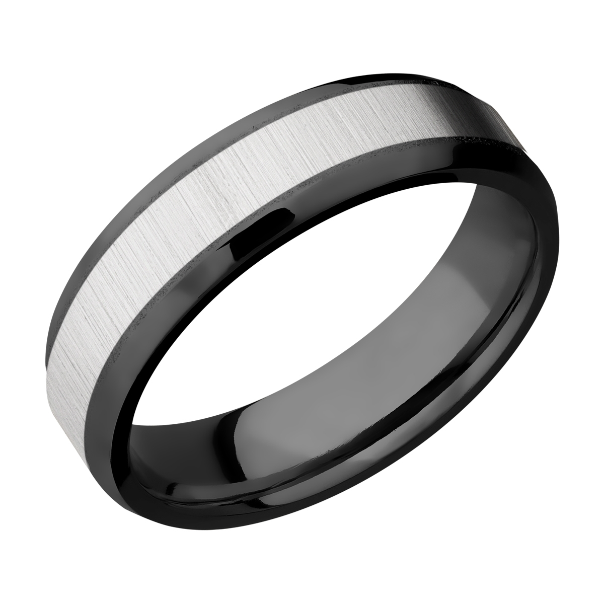 Lashbrook ZPF6B14(NS)/TITANIUM Zirconium Wedding Ring or Band
