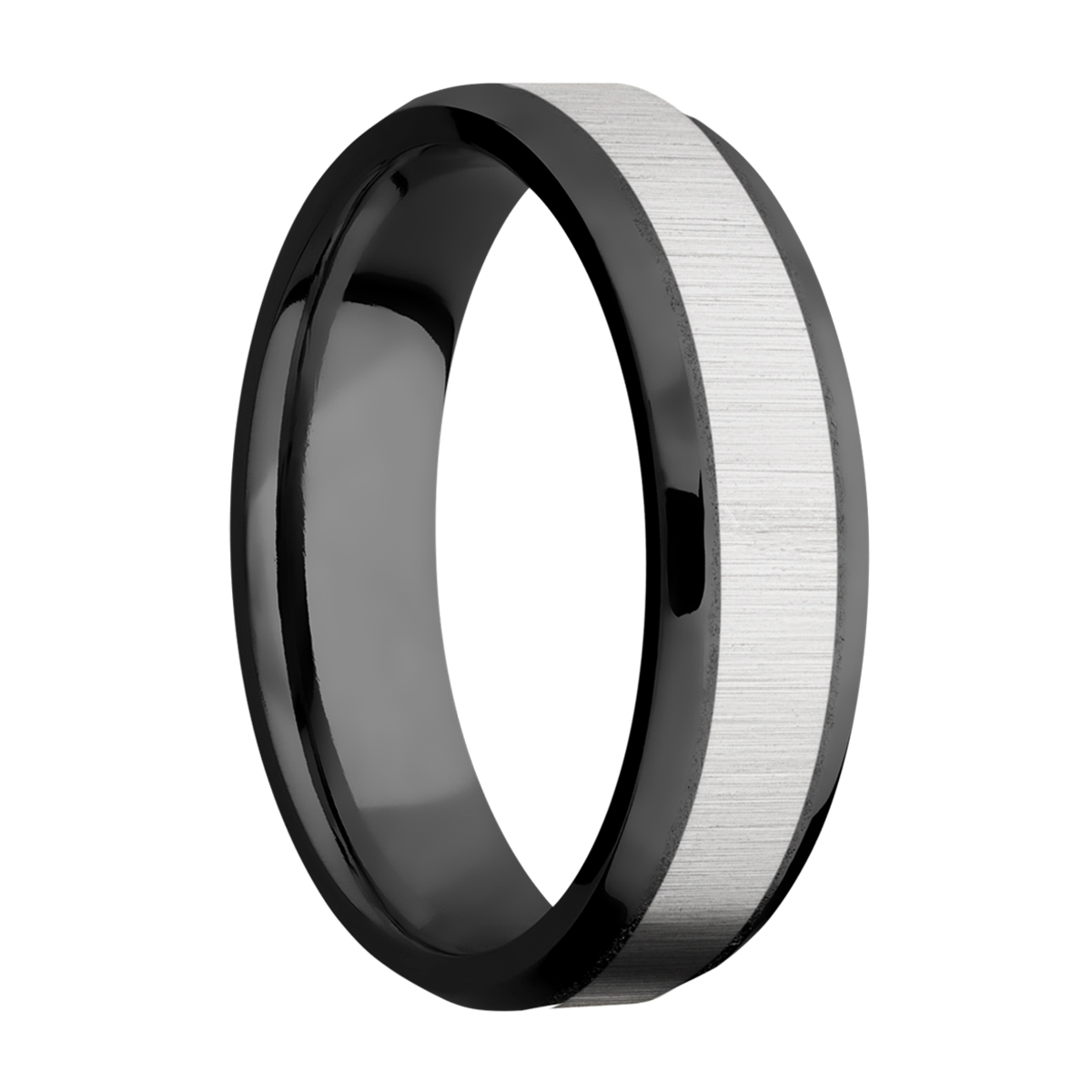Lashbrook ZPF6B14(NS)/TITANIUM Zirconium Wedding Ring or Band Alternative View 1