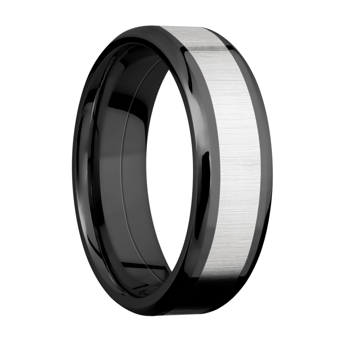 Lashbrook ZPF7B14(NS)/COBALT Zirconium Wedding Ring or Band Alternative View 1