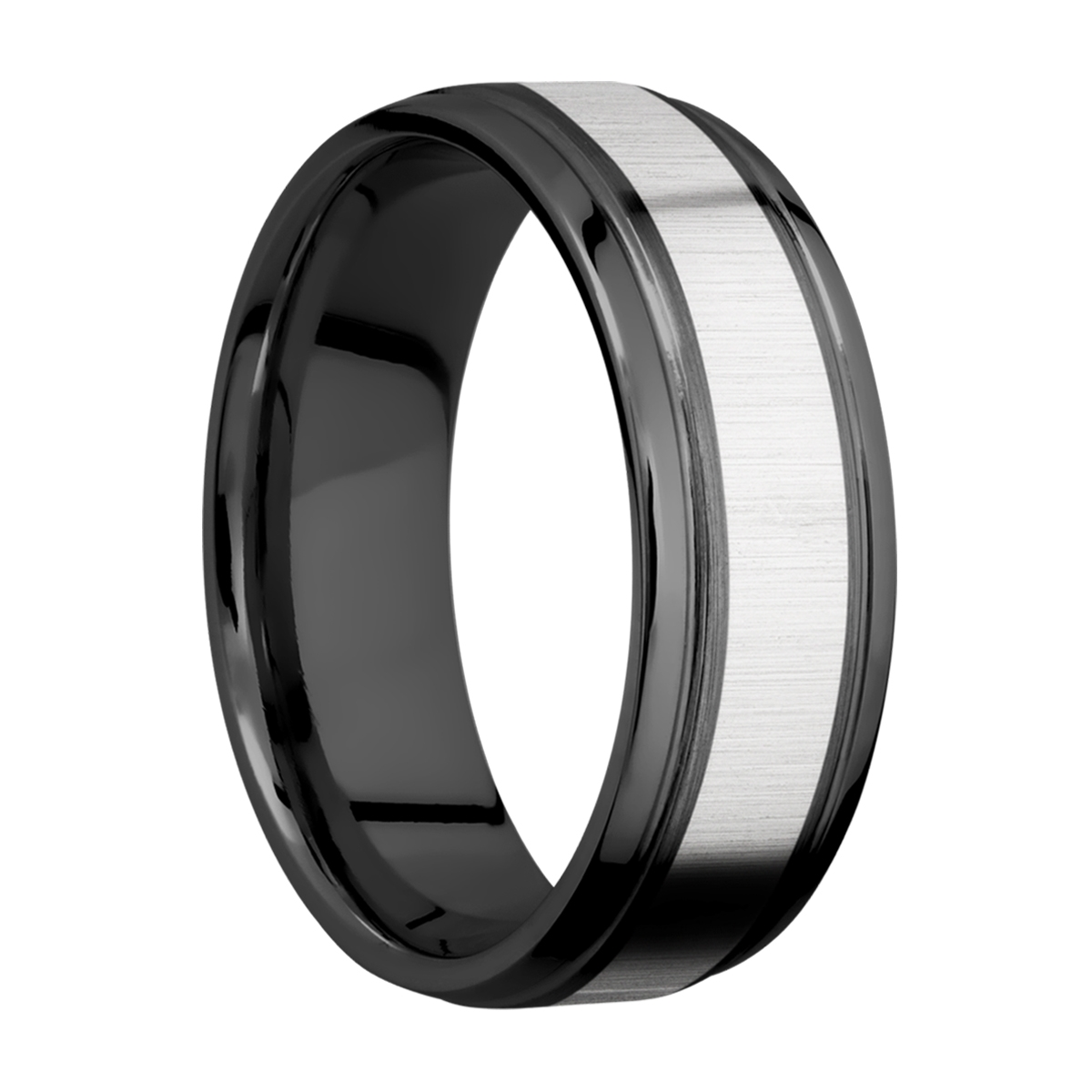 Lashbrook ZPF7B14(S)/COBALT Zirconium Wedding Ring or Band Alternative View 1
