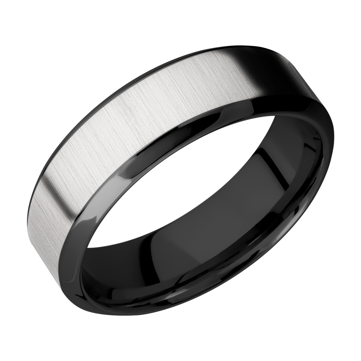 Lashbrook ZPF7HB14/TITANIUM Zirconium Wedding Ring or Band