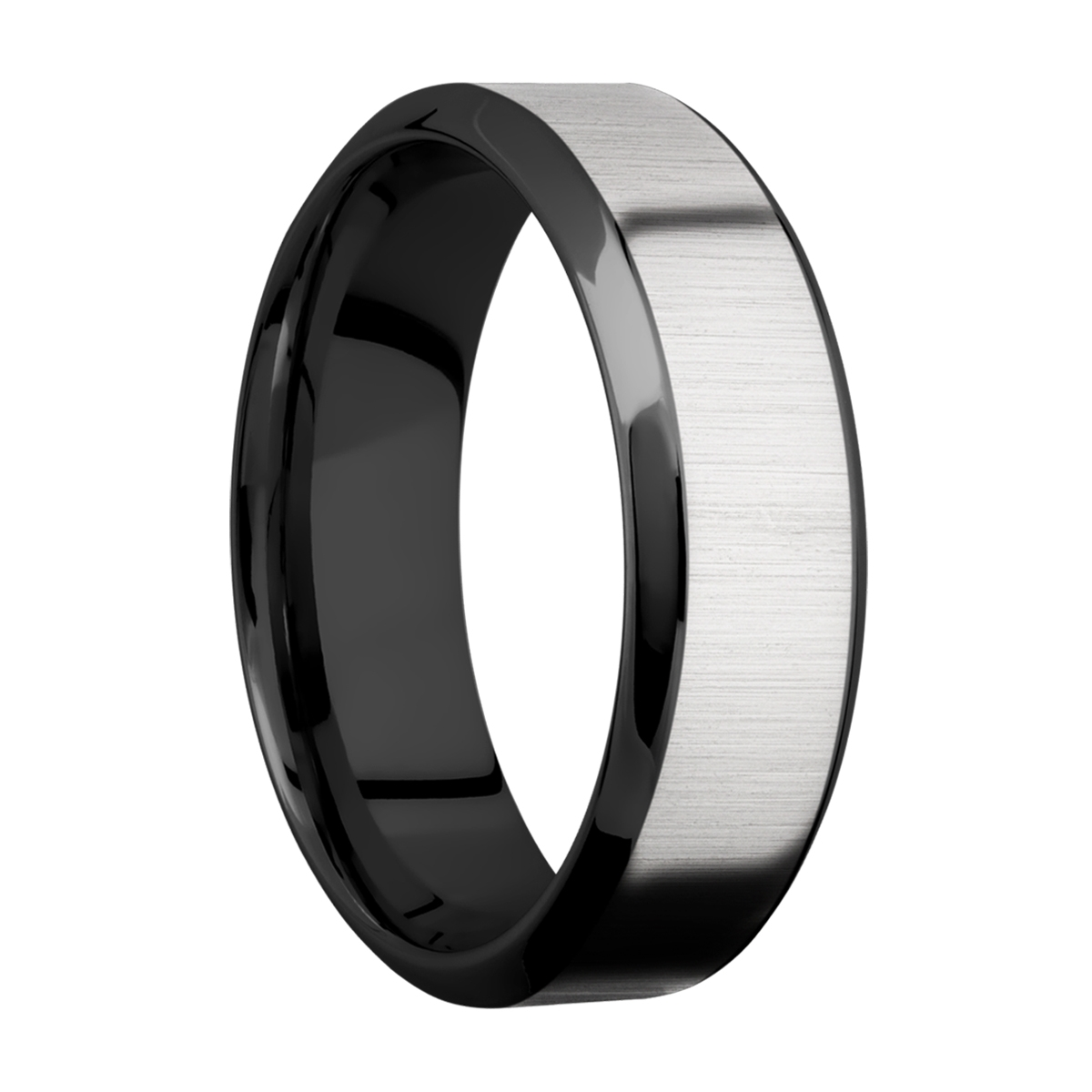 Lashbrook ZPF7HB14/TITANIUM Zirconium Wedding Ring or Band Alternative View 1