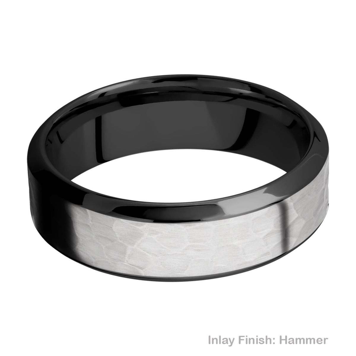 Lashbrook ZPF7HB14/TITANIUM Zirconium Wedding Ring or Band Alternative View 10