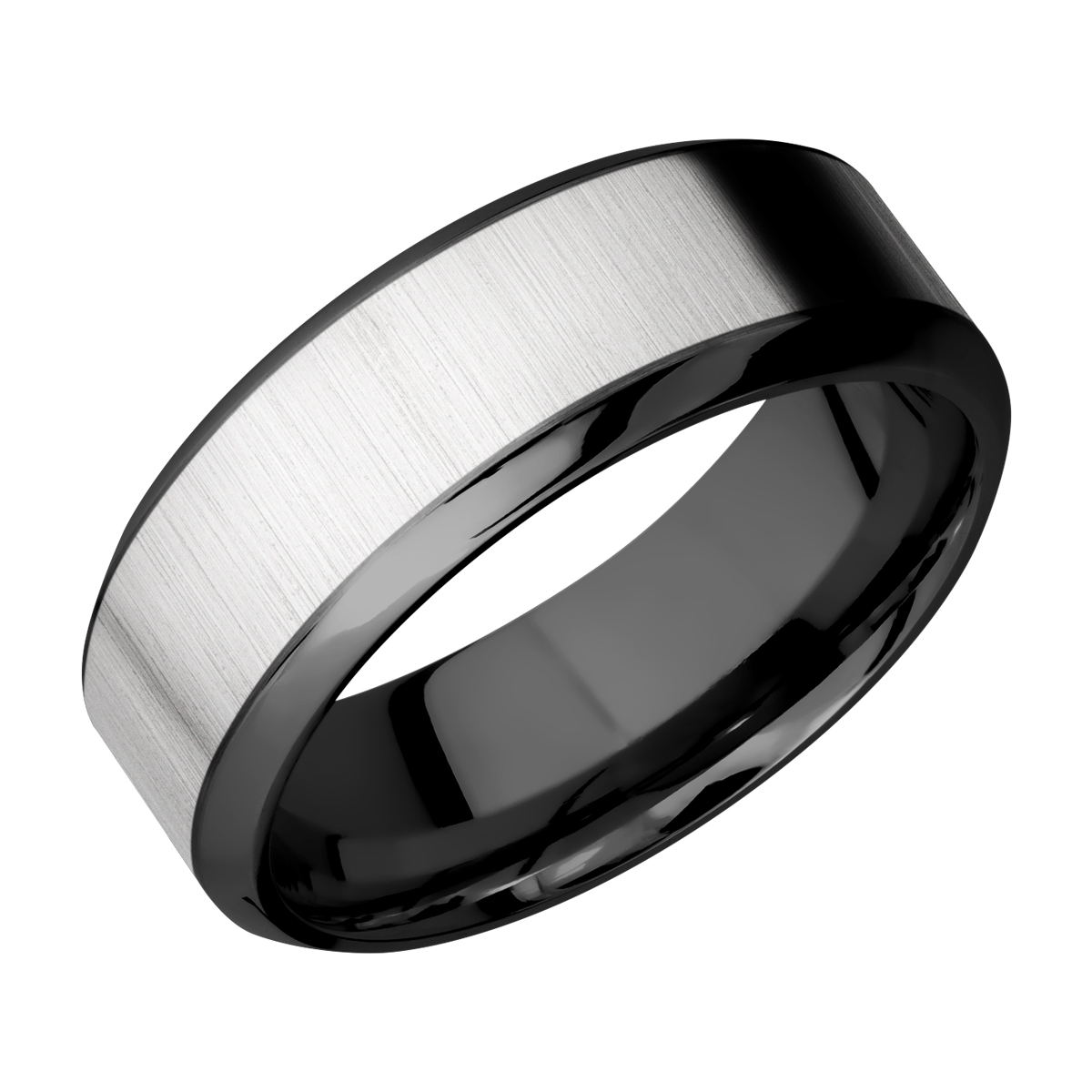 This is an image of Lashbrook ZPF44HB44/TITANIUM Zirconium Wedding Ring or Band