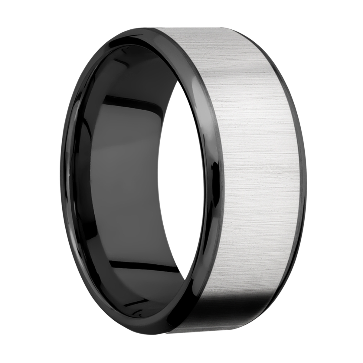 Lashbrook ZPF10B18(NS)/TITANIUM Zirconium Wedding Ring or Band Alternative View 1