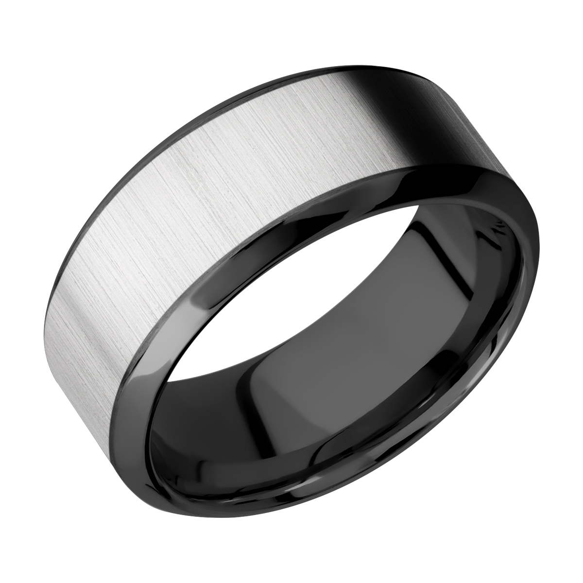 Lashbrook ZPF9HB16/TITANIUM Zirconium Wedding Ring or Band