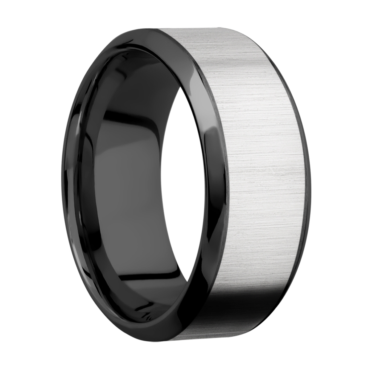 Lashbrook ZPF9HB16/TITANIUM Zirconium Wedding Ring or Band Alternative View 1