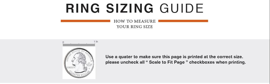 Ring Sizing guide 1