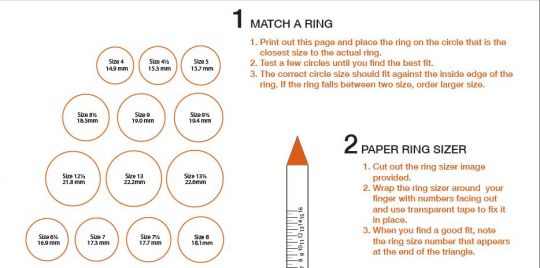 Ring Sizing guide 2
