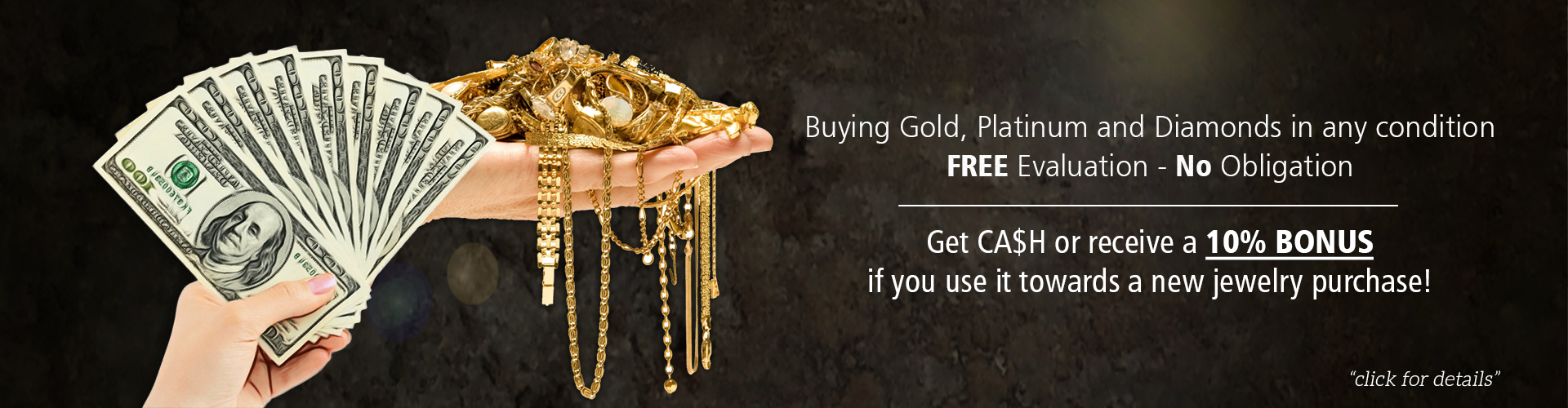 Sell your scrap gold, platinum and diamonds