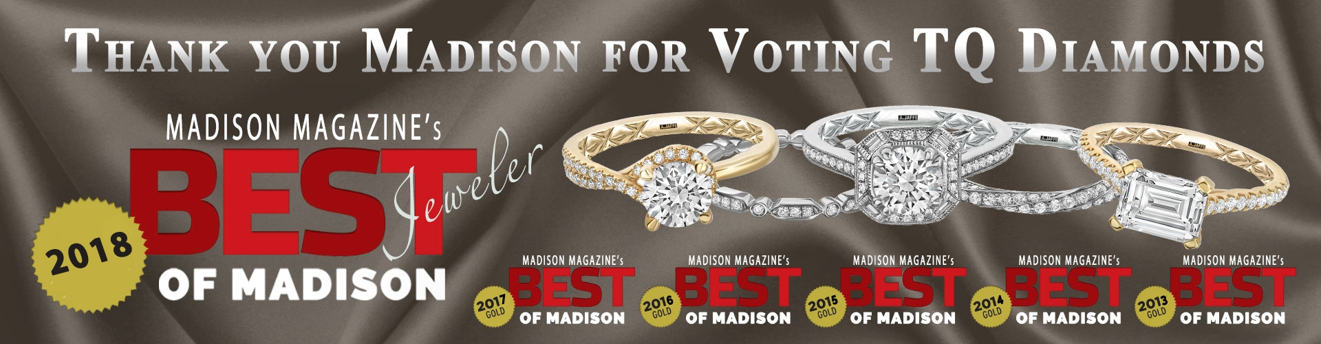 We Won - Best Jeweler of Madison 2018