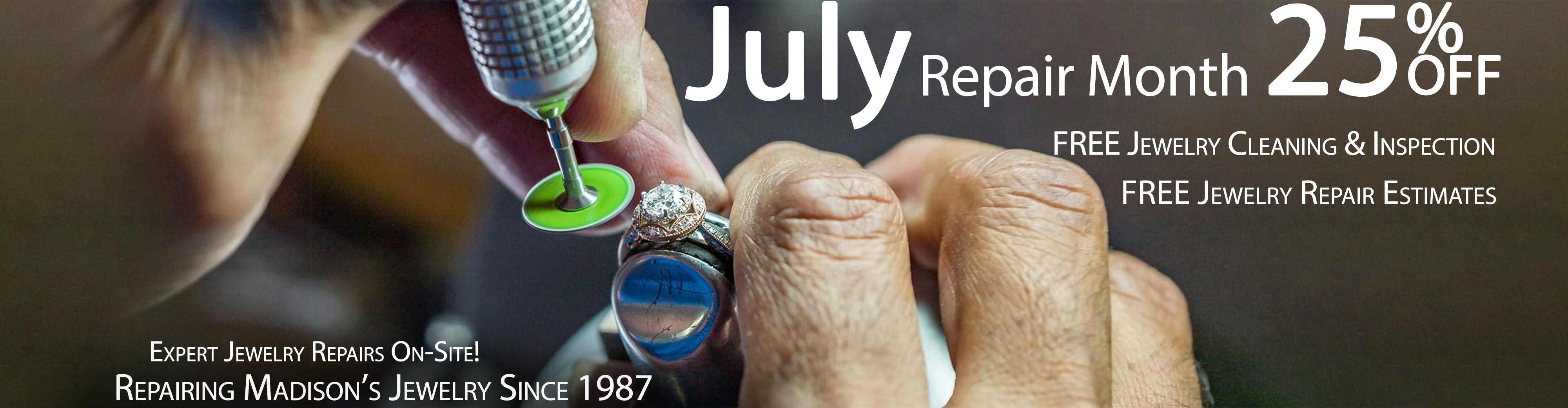 July 2019 Jewelry Repair Month