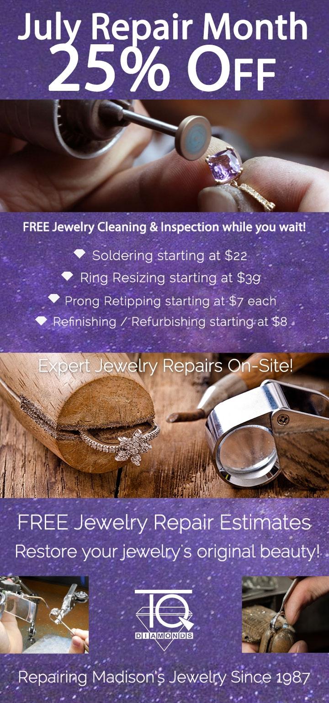 Event | July Jewelry Repair 2018 | TQ Diamonds