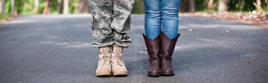 Military Couple and Boots